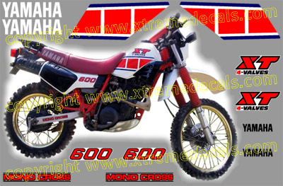 Yamaha XT600 1986 Decal Set
