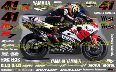 Yamaha West Race Decal Kit