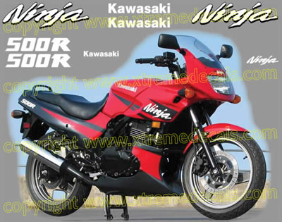 Kawasaki Ninja 500 R Decal set 2002 Model