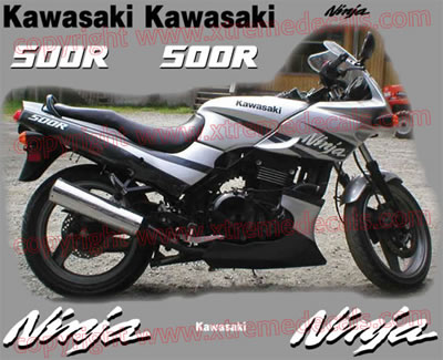Kawasaki Ninja 500 R Decal set 2003 Model