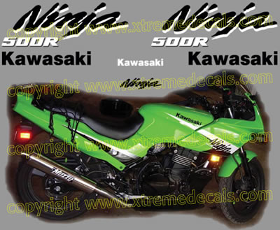 Kawasaki Ninja 500 R Decal set 2006 Model
