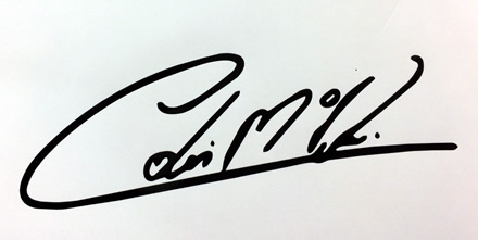 Colin Mcrae Signature decal