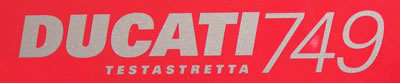 Ducati 749 testastretta Decal