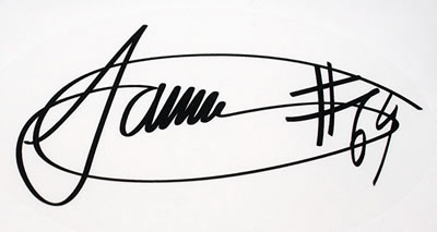 Jamie Whitham Autograph Decal