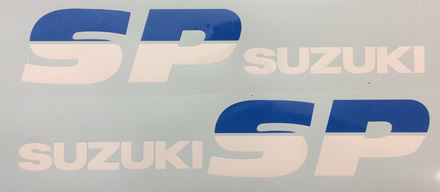 Suzuki SP200 1987 Tank Decals