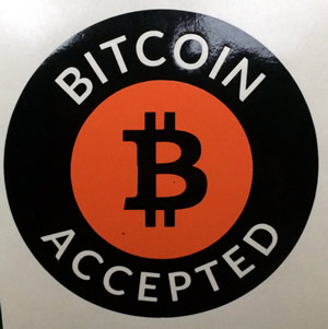 Bitcoin Accepted Decal