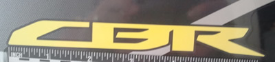 CBR Decal for the 2011 CBR 150R