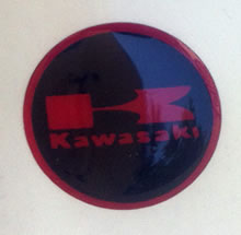 Domed Kawasaki Badge