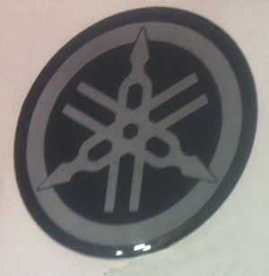 Yamaha logo domed tank badge