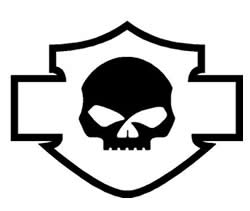 Harley Willie G Skull Decal