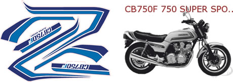 Honda CB 750F Supersport Decals and Graphics 1981 Model