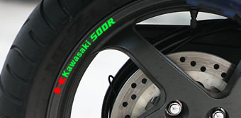 Kawasaki 500R Rim Decal set