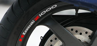 Kawasaki Z1000 Rim Decal set