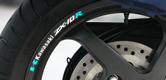 Kawasaki ZX-10R Rim Decal set