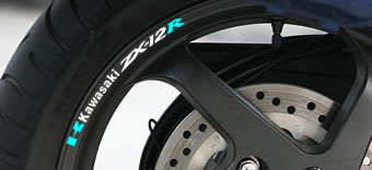 Kawasaki ZX-12R Rim Decal set