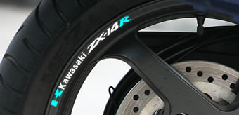 Kawasaki ZX-14R Rim Decal set