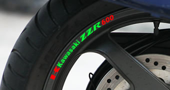 Kawasaki ZZR 600 Rim Decal set