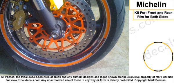 Wheel Rim Decal Kit  Michelin