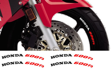 Rim Decal set Honda  600F3 2 Colour