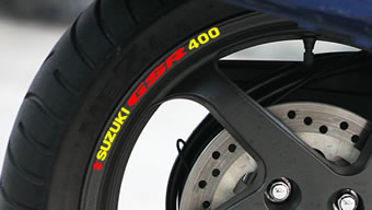Suzuki GSR400 Rim Decal set
