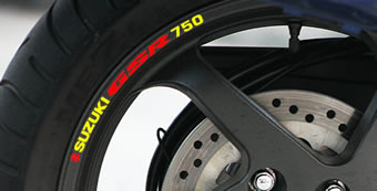 Suzuki GSR750 Rim Decal set