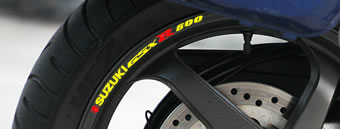 Suzuki GSXR 600 Rim Decal set