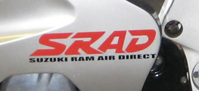 Suzuki SRAD 2 Colour with small lettering