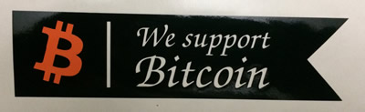 We support Bitcoin Decal