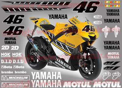 Yamaha Laguna Full Race Decal Set