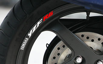 Yamaha YZF R6 Rim Decal set